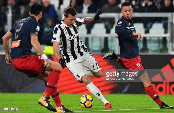 Mario Mandzukic of Juventus in action during the Serie A match between Juventus and Genoa CFC on January 22 2018 in Turin Italy