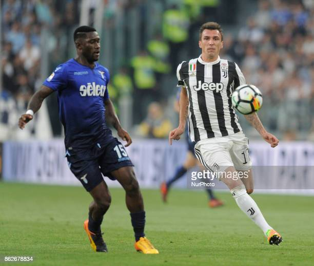 Mario Mandzukic of Juventus player and Bastos of Lazio player during the match valid for Italian Football Championships Serie A 20172018 between FC...
