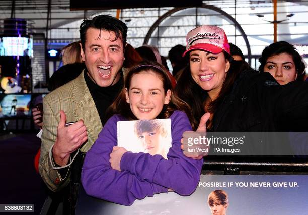 Mario Marconi Lisa Appleton and their daughter Olivia at the European Premiere of Justin Bieber Never Say Never at the Cineworld O2 The O2 Arena SE10