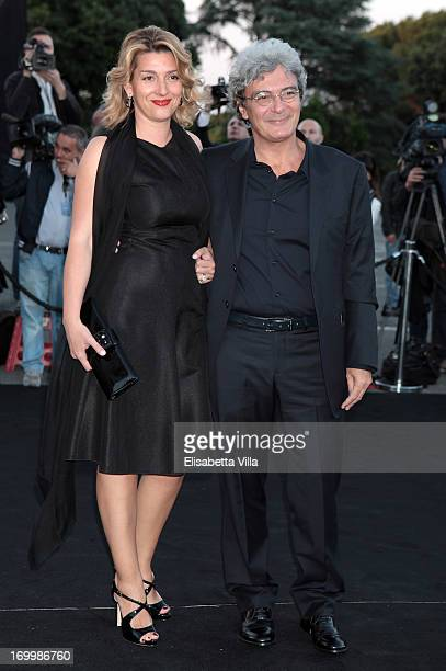Mario Martone and wife attend 'One Night Only' Roma hosted by Giorgio Armani at Palazzo Civilta Italiana on June 5 2013 in Rome Italy
