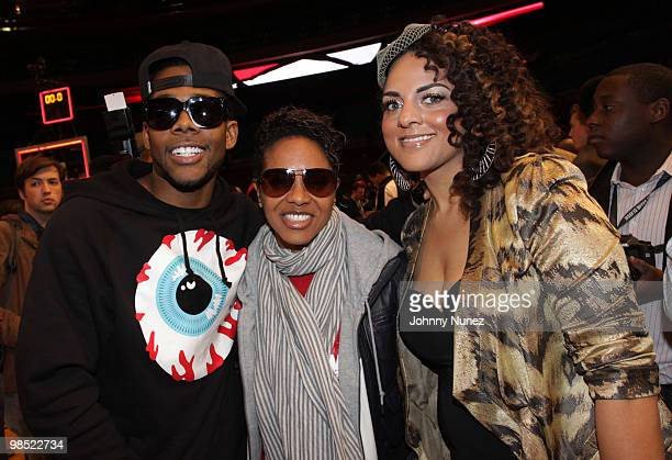 Mario, MC Lyte, and Marsha Ambrosius attend the Jordan Brand Classic National Game at Madison Square Garden on April 17, 2010 in New York City.