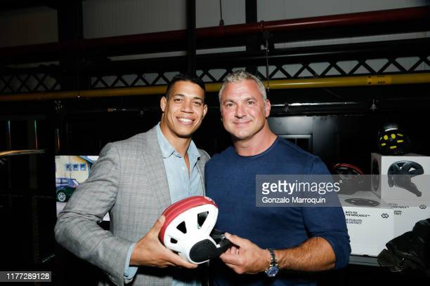 Mario Mercado and Shane McMahon attend New Lab Annual Open House Party at New Lab on October 19 2019 in Brooklyn NY