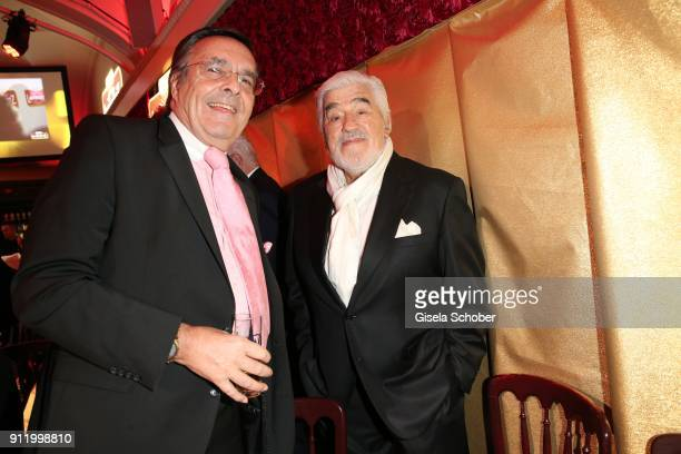 Mario Ohoven and Mario Adorf during the 20th Lambertz Monday Night 2018 at Alter Wartesaal on January 29 2018 in Cologne Germany