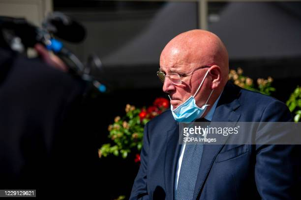Mario Oliverio, former governor of Calabria Region speaking during the funeral. At the Regional Citadel in Catanzaro was the last tribute for Jole...