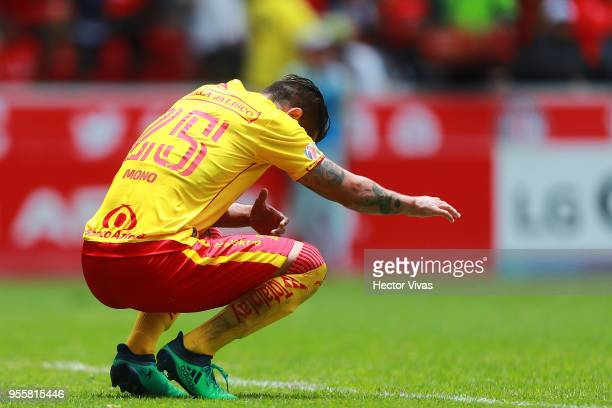 Mario Osuna of Morelia reacts during the quarter finals second leg match between Toluca and Morelia as part of the Torneo Clausura 2018 Liga MX at...