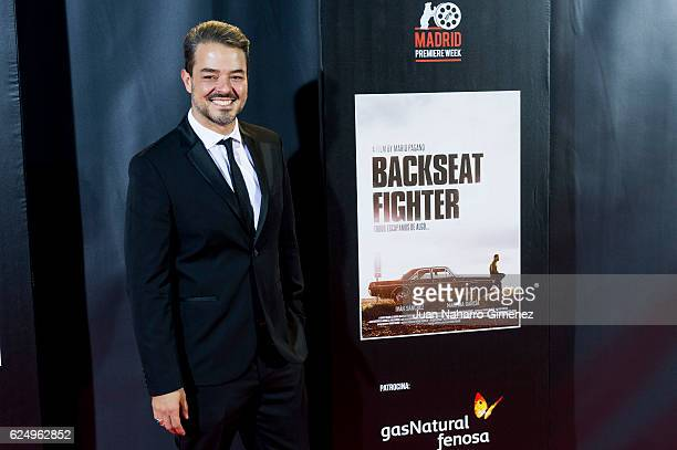 Mario Pagano attends 'Backseat Fighter' premiere during the Madrid Premiere Week at Callao Cinema on November 21 2016 in Madrid Spain