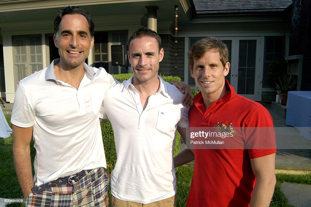 Mario Palumbo, Clark Chaine and Matthew Kelleher attend School's Out 2008, benefiting The Hetrick-Martin Institute, home of the Harvey Milk High School at East Hampton on June 9, 2008 in East Hampton, New York.