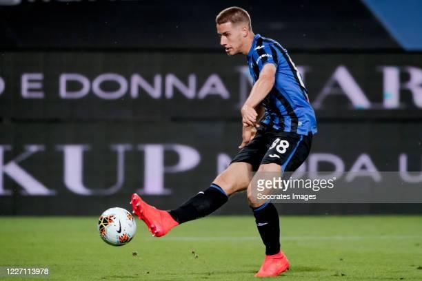 Mario Pasalic of Atalanta Bergamo during the Italian Serie A match between Atalanta Bergamo v Brescia at the Stadio Atleti Azzurri d Italia on July...