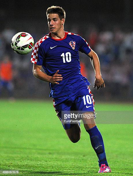 Mario Pasalic of Croatia in action during the UEFA U21 Championship Playoff Second Leg match between Croatia and England at the Stadion Hnk Cibalia...