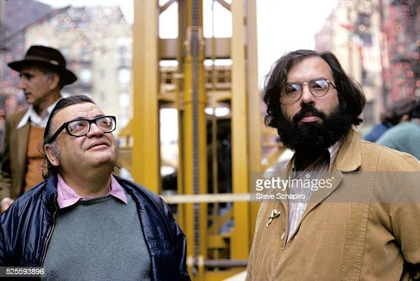 Mario Puzo and Francis Coppola on the set of 'The Godfather Part II' Sicily 1973