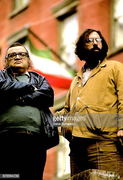 Mario Puzo and Francis Ford Coppola on the set of 'The Godfather Part II' Sicily 1973