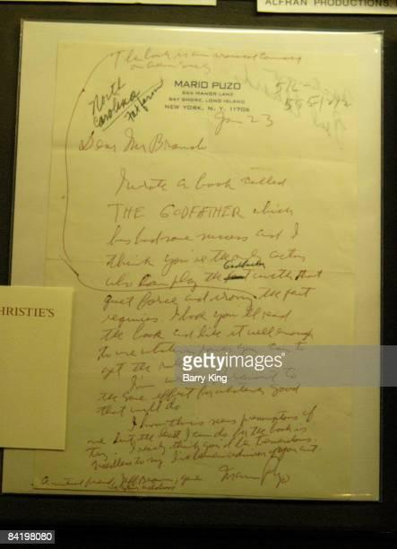 Mario Puzo Letter to Marlon Brando