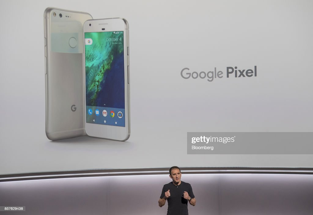 Mario Queiroz, vice president of product management for Google Inc., speaks about the Google Pixel smartphone during a product launch event in San Francisco, California, U.S., on Wednesday, Oct. 4, 2017. Google unveiled the second generation of its own devices along with an array of entirely new gadgets, plowing the company deeper into a competitive consumer hardware market. Photographer: David Paul Morris/Bloomberg via Getty Images