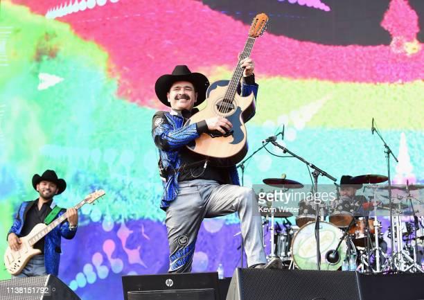 Mario Quintero Lara and David Servin Raya of Los Tucanes de Tijuana perform at Coachella Stage during the 2019 Coachella Valley Music And Arts...