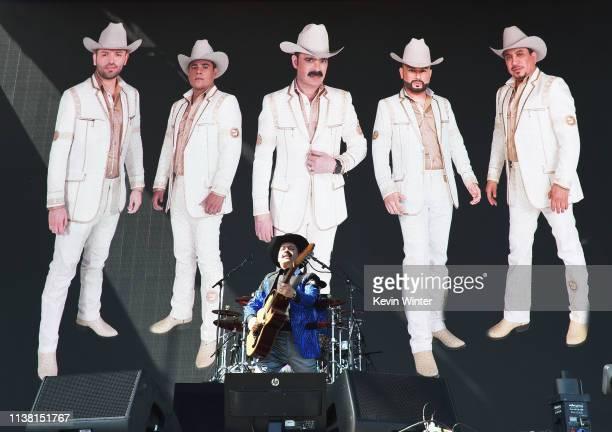 Mario Quintero Lara of Los Tucanes de Tijuana performs at Coachella Stage during the 2019 Coachella Valley Music And Arts Festival on April 19, 2019...