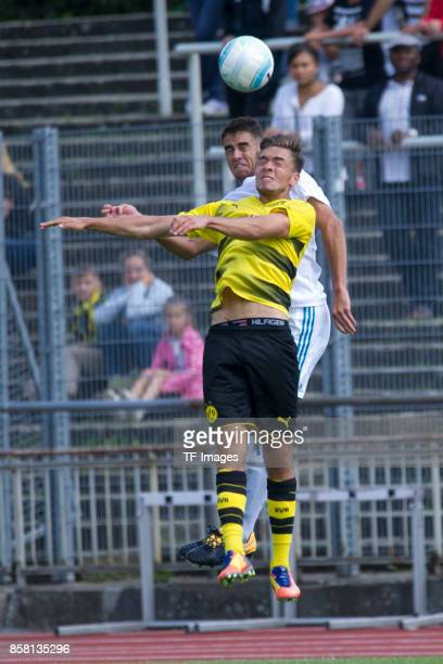 Mario Rafael Del Campo Escobar of Real Madrid and Jan Stuhldreier of Dortmund battle for the ball during the EMKA RUHRCup International Final match...