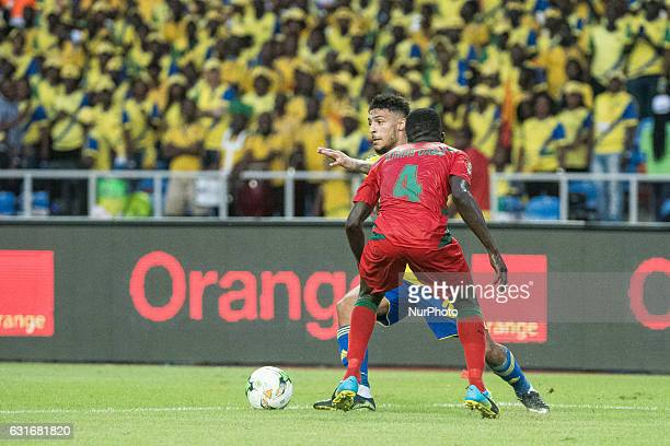 Mario René Junior Lemina against Tomas Soares Dabo during the second half at African Cup of Nations 2017 between Gabon and GuineaBissau at Stade de...