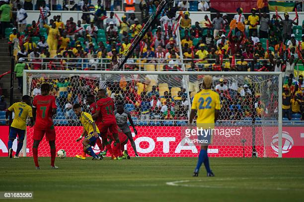 Mario René Junior Lemina almost scoring during the first half at African Cup of Nations 2017 between Gabon and GuineaBissau at Stade de lAmitié Sino...