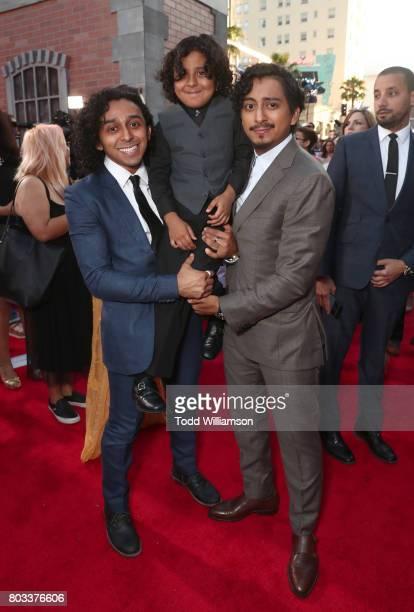 Mario Revolori Benjamin Revolori and Tony Revolori attend the premiere of Columbia Pictures' 'SpiderMan Homecoming' at TCL Chinese Theatre on June 28...