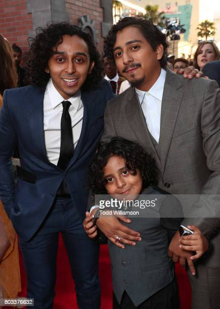 Mario Revolori Benjamin Revolori and Tony Revolori attend the premiere of Columbia Pictures' 'SpiderMan Homecoming' at TCL Chinese Theatre on June 28...