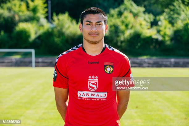 Mario Rodriguez of Sonnenhof Grossaspach poses during the team presentation on July 13 2017 in Grossaspach Germany