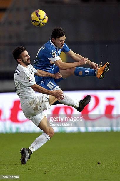 Mario Rui of Empoli FC battles for the ball with Marco D'Alessandro of Atalanta BC during the Serie A match between Empoli FC and Atalanta BC at...