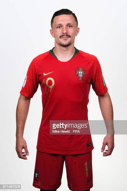 Mario Rui of Portugal poses for a portrait during the official FIFA World Cup 2018 portrait session at the Saturn training base on June 10 2018 in...