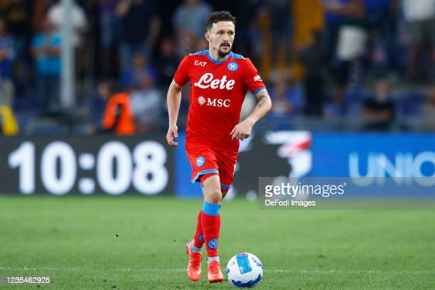 Mario Rui of SSC Napoli controls the ball during the Serie A match between UC Sampdoria and SSC Napoli at Stadio Luigi Ferraris on September 23, 2021...