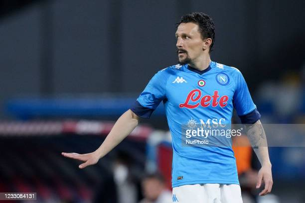 Mario Rui of SSC Napoli gestures during the Serie A match between SSC Napoli and Hellas Verona at Stadio Diego Armando Maradona, Naples, Italy on 23...