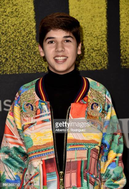 Mario Selman attends the premiere of Universal Pictures' 'Pitch Perfect 3' at Dolby Theatre on December 12 2017 in Hollywood California