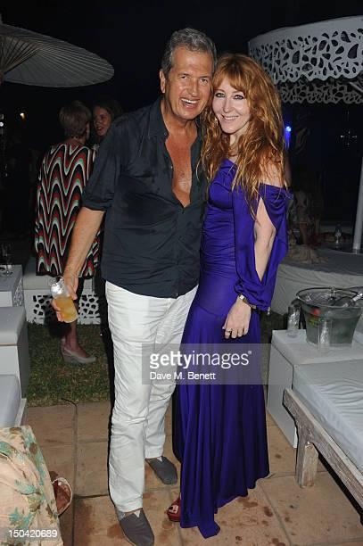 Mario Testino and Charlotte Tilbury attend the Ibiza Summer Party In Aid Of Teenage Cancer Trust and Asociacion Espanola Contra El Cancer at Groucho...