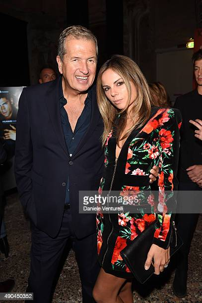 Mario Testino and Erica Pelosini attend Vogue China 10th Anniversary at Palazzo Reale on September 28 2015 in Milan Italy
