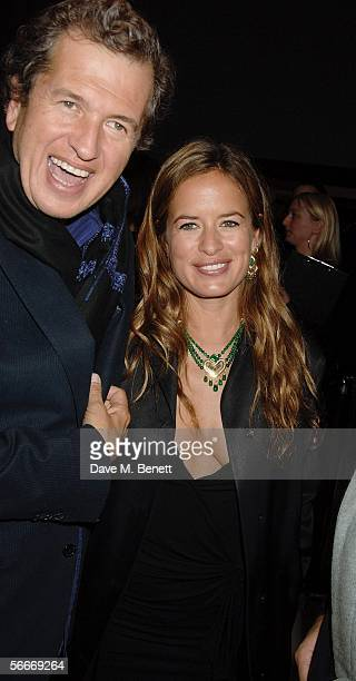 Mario Testino and Jade Jagger attend the Burns' Night VIP Fundraising Party celebrating Scotland's Robert Burns' presumed birthday at Asia de Cuba St...