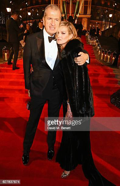Mario Testino and Kate Moss attend The Fashion Awards 2016 at Royal Albert Hall on December 5 2016 in London United Kingdom