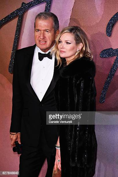Mario Testino and Kate Moss attend The Fashion Awards 2016 on December 5 2016 in London United Kingdom