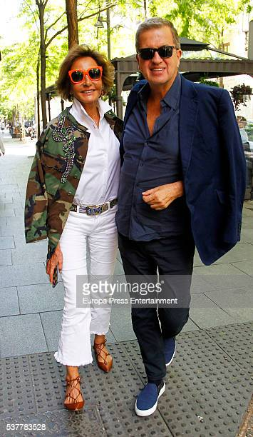 Mario Testino and Naty Abascal are seen on June 2 2016 in Madrid Spain