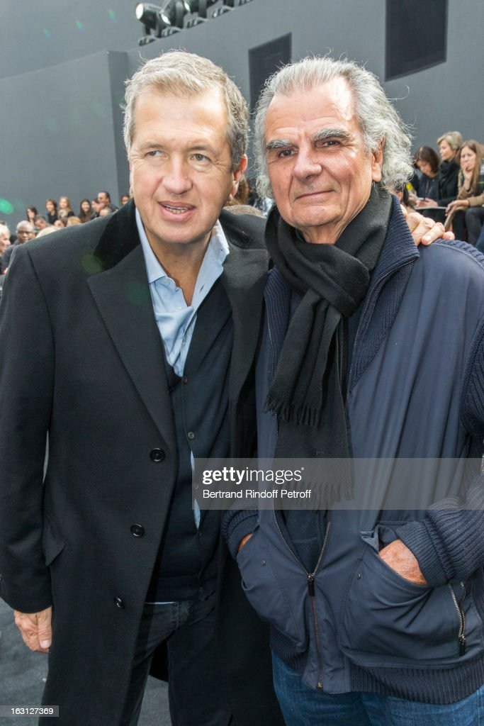 Mario Testino (L) and Patrick Demarchelier attend the Chanel Fall/Winter 2013 Ready-to-Wear show as part of Paris Fashion Week at Grand Palais on March 5, 2013 in Paris, France.