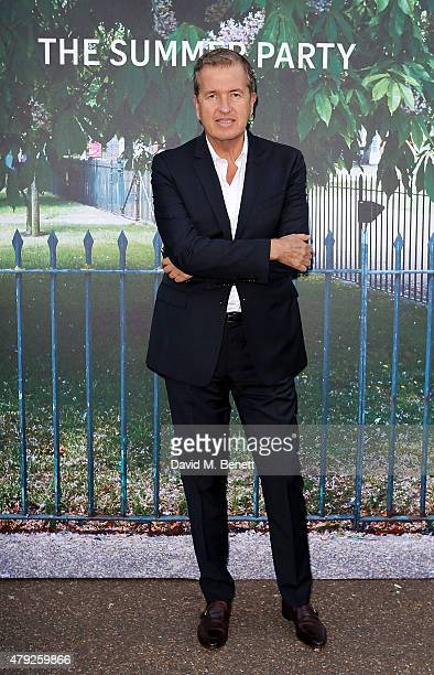 Mario Testino arrives at The Serpentine Gallery summer party at The Serpentine Gallery on July 2 2015 in London England