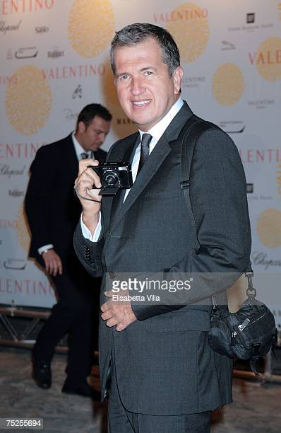 Mario Testino arrives at the 'Valentino In Rome 45 Years Of Style' postexhibit gala dinner at the Temple of Venus in the Imperial Forum July 6 2007...