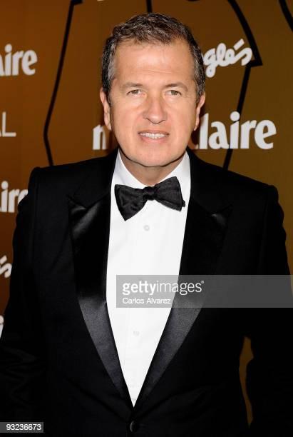 Mario Testino attends 2009 Marie Claire Prix de la Moda Awards at French Embassy on November 19 2009 in Madrid Spain
