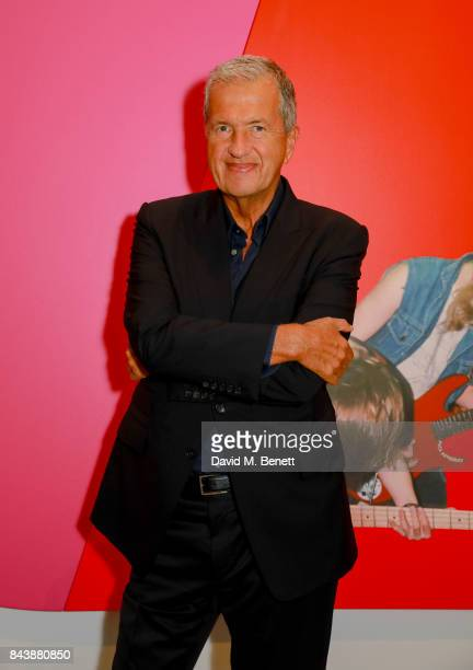 Mario Testino attends a dinner at Sotheby's to celebrate the opening of 'Shake It Up Works from the Mario Testino Collection' an auction to benefit...