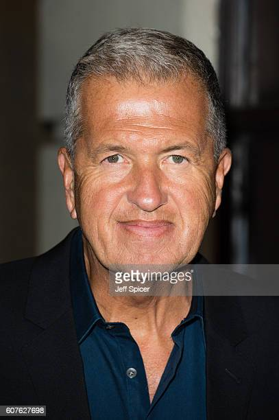Mario Testino attends A Green Carpet Challenge BAFTA Night during London Fashion Week Spring/Summer collections 2017 on September 18 2016 in London...