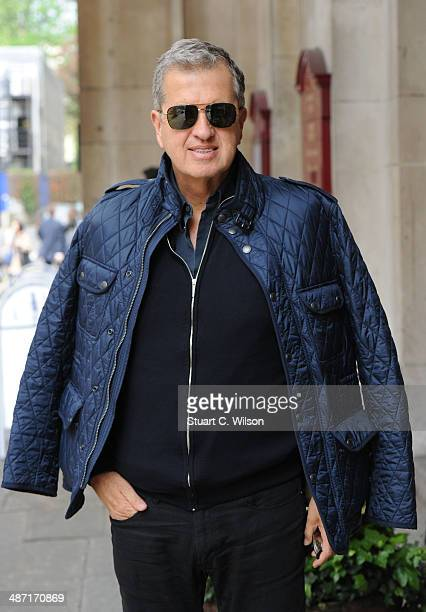 Mario Testino attends a memorial service for former British Vogue Editor Beatrix Miller at St George's Church on April 28 2014 in London England She...