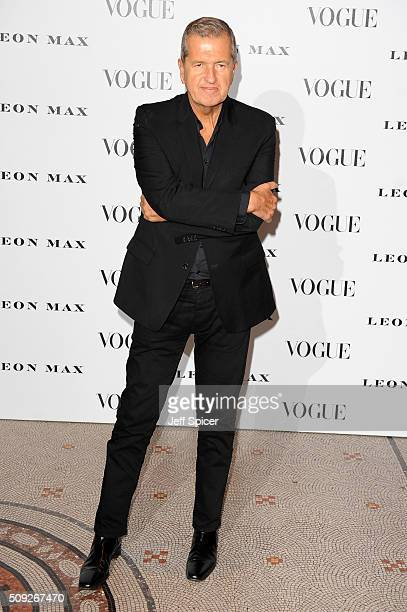 Mario Testino attends at Vogue 100 A Century Of Style at the National Portrait Gallery on February 9 2016 in London England