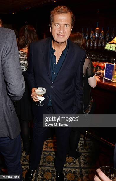 Mario Testino attends Harvey Weinstein's BAFTA Dinner in partnership with Burberry GREY GOOSE at Little House Mayfair on February 6 2015 in London...