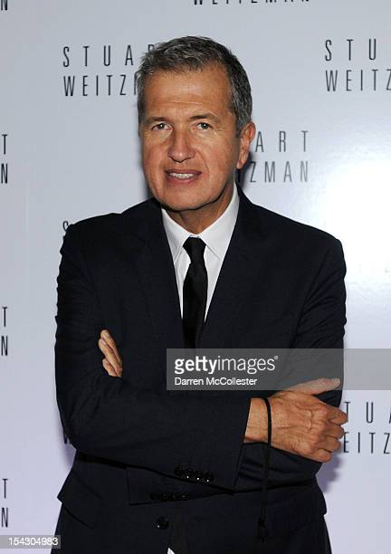 Mario Testino attends Stuart Weitzman celebration of Mario Testino's first US photography exhibits at The Museum of Fine Arts William Koch Gallery on...