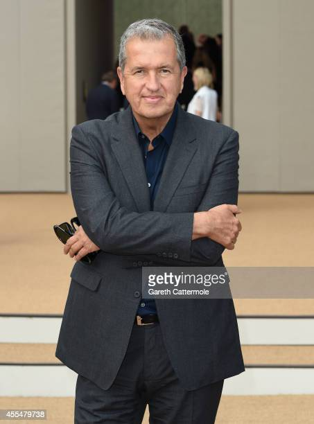 Mario Testino attends the Burberry Womenswear SS15 show during London Fashion Week at Kensington Gardens on September 15 2014 in London England