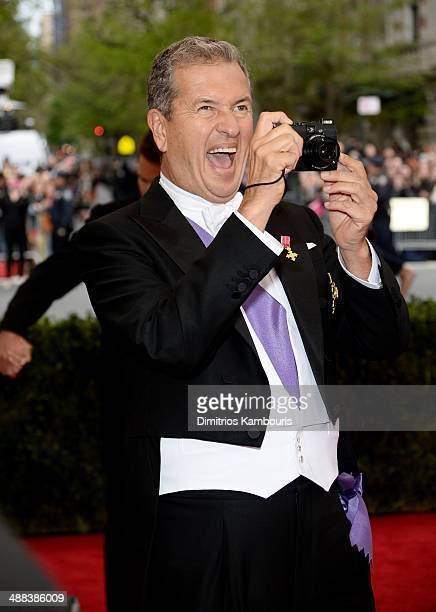 Mario Testino attends the 'Charles James Beyond Fashion' Costume Institute Gala at the Metropolitan Museum of Art on May 5 2014 in New York City