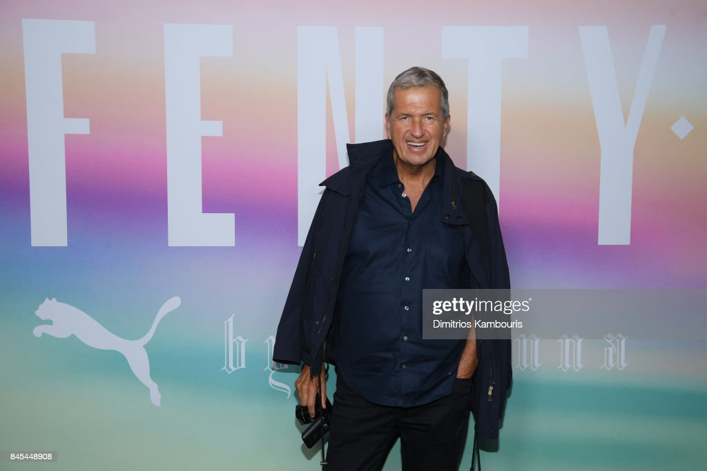 Mario Testino attends the FENTY PUMA by Rihanna Spring/Summer 2018 Collection at Park Avenue Armory on September 10, 2017 in New York City.