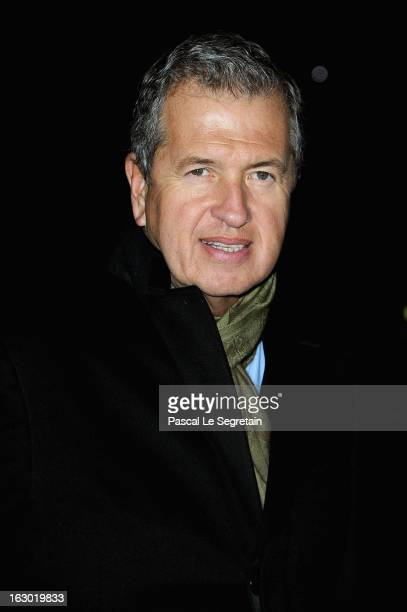 Mario Testino attends the Givenchy Fall/Winter 2013 ReadytoWear show as part of Paris Fashion Week on March 3 2013 in Paris France